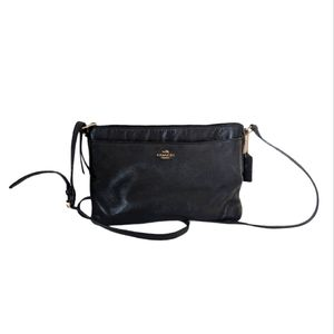 Coach Smooth Leather Cross Body Black Bag